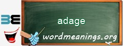WordMeaning blackboard for adage